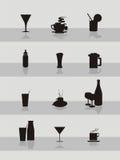 Colección del icono de la bebida Imagenes de archivo