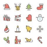 Colección del icono de la Navidad ilustración del vector