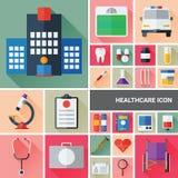 Colección del icono de la salud Fotografía de archivo