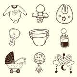 Colección del icono del bebé Fotos de archivo libres de regalías