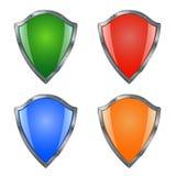 Colección del icono del escudo para su seguridad stock de ilustración