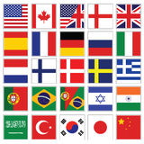 Colección del icono del lenguaje del Web Fotografía de archivo