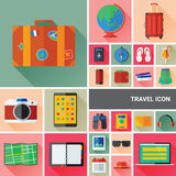 Colección del icono del viaje Foto de archivo