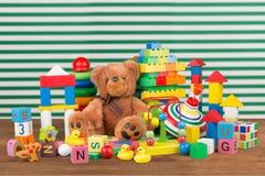 Colección del juguete Fotografía de archivo