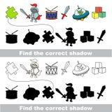 Colección del juguete del muchacho Encuentre la sombra correcta Fotografía de archivo libre de regalías