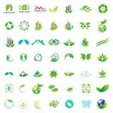 colección del logotipo de negocio verde de la atención sanitaria de la naturaleza stock de ilustración