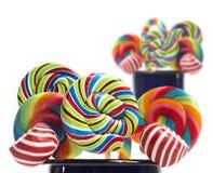 Colección del lollipop del bastón de caramelo de azúcar Foto de archivo