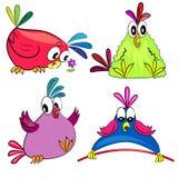 Colección del loro de la historieta. pájaro stock de ilustración