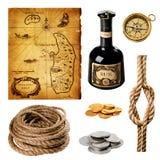 Colección del pirata Foto de archivo libre de regalías