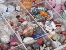 Colección del mineral y de la gema foto de archivo libre de regalías