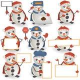 Colección del muñeco de nieve Fotos de archivo