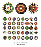 Colección del ornamento de Rossete Imagen de archivo libre de regalías
