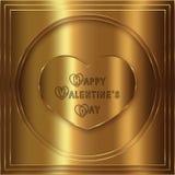 Colección del oro del corazón Fotografía de archivo