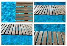 Colección del puente de la piscina Imagen de archivo