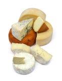 Colección del queso Foto de archivo libre de regalías