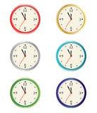 colección del reloj del vector Fotos de archivo libres de regalías
