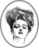 Colección #4 del retrato de la mujer del vintage Imagenes de archivo