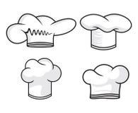 Colección del sombrero del cocinero Fotografía de archivo