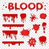 Colección del splat de la sangre Imágenes de archivo libres de regalías