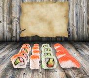 Colección del sushi Fotos de archivo
