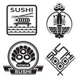 Colección del sushi Imagenes de archivo