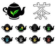 Colección del té Fotografía de archivo libre de regalías