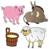 Colección del tema de los animales del campo Imagen de archivo
