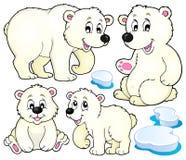 Colección 1 del tema de los osos polares ilustración del vector