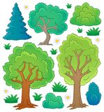 Colección 1 del tema del árbol Imagenes de archivo