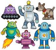 Colección 1 del tema del robot Imagen de archivo libre de regalías