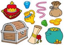 Colección del tesoro ilustración del vector