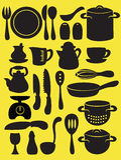 Colección del utensilio de la cocina Foto de archivo libre de regalías