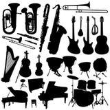 Colección del vector 2 de la música Foto de archivo libre de regalías