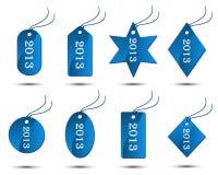 Colección del vector de 2013 etiquetas engomadas Fotografía de archivo