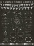 Colección del vector de banderas, de cintas y de bastidores Fotografía de archivo