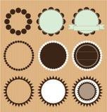 Colección del vector de bastidores del círculo Imagenes de archivo
