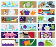 Colección del vector de carta o de Job Chart Activities de la tarea Fotografía de archivo libre de regalías