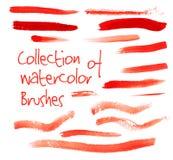 Colección del vector de cepillos de la acuarela libre illustration
