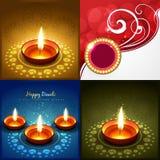 Colección del vector de ejemplo del fondo del diwali libre illustration