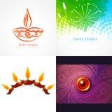 Colección del vector de ejemplo del fondo del diwali Fotografía de archivo