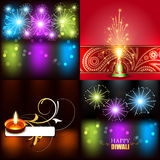 Colección del vector de fondo hermoso del diseño del diwali stock de ilustración