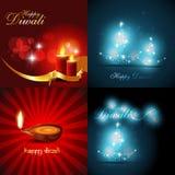 Colección del vector de fondo hermoso del diseño del diwali Foto de archivo