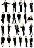 Colección del vector de hombres de negocios Imagenes de archivo