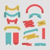 Colección del vector de las banderas de la cinta del color Foto de archivo