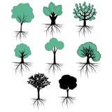 Colección del vector de los árboles Imagen de archivo libre de regalías