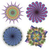 Colección del vector de mandalas del color Imagenes de archivo