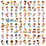 Colección del vector de niños de la historieta stock de ilustración