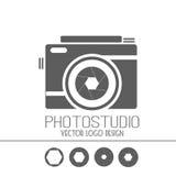 Colección del vector de plantillas del logotipo de la fotografía Logotipos de Photocam Insignias e iconos del vintage de la fotog Imagen de archivo