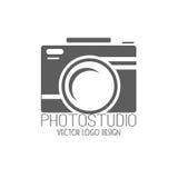 Colección del vector de plantillas del logotipo de la fotografía Logotipos de Photocam Insignias e iconos del vintage de la fotog Fotografía de archivo