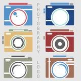 Colección del vector de plantillas del logotipo de la fotografía Logotipos de Photocam Insignias e iconos del vintage de la fotog Foto de archivo libre de regalías